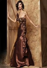 MacDuggal Couture 7176D.  Available in Chocolate, Peacock 